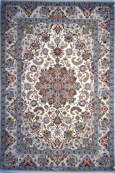 Isfahan Persian Area Rug 5x7