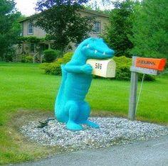 dinosaur mail box
