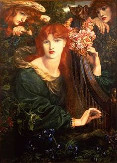 'La Ghirlandata' ~ Dante Gabriel Rossetti, 1873