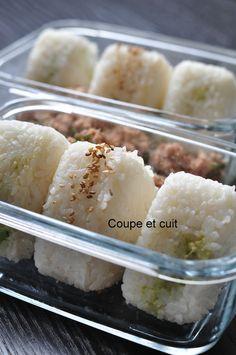 Onigiris Kiri-Avocat / Thon-Sésame Cooking Box, Cooking Time, Cooking Recipes, Yummy Asian Food, Yummy Food, Healthy Food, My Favorite Food, Favorite Recipes, Sushi