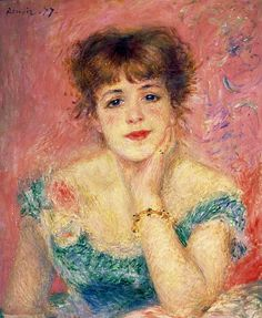 Pierre-Auguste Renoir, Portrait of the Actress Jeanne Samary, 1877