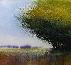 David Parfitt(British)Early Autumn Light  Mixed Media  230mm x 255mm   via