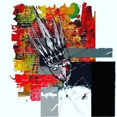 """""""LE ROI"""" version digital, peinture de base à l'acrylique, retravaillée sur AI Arno, Comic Books, Comics, Cover, Cartoons, Cartoons, Comic, Comic Book, Comics And Cartoons"""