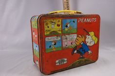 Lunchbox Vintage 1970 s Peanuts Cartoon  Lunchbox by by retroricks