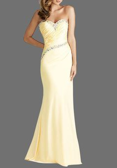 Strapless Sweetheart Floor Length Satin Prom Gown
