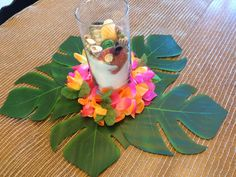 Centerpiece for Moana/Polynesian birthday party