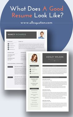 What Does A Good Resume Look Like? Visit Www.allcupation.com For More