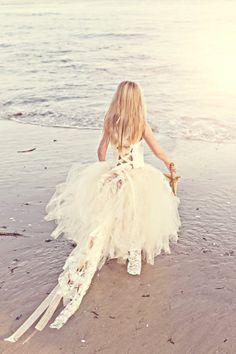 Tulle Lace Flower Girl Tutu Dress