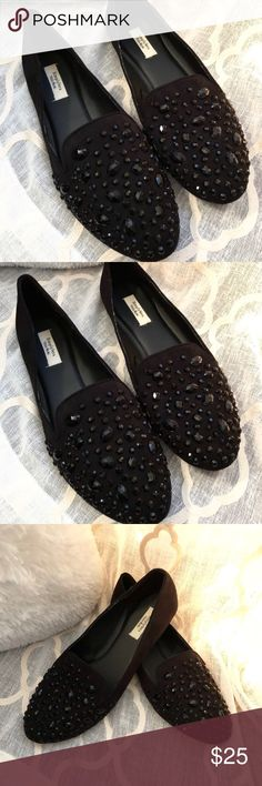 Simply Vera Wang Rhinestone Flats Size 10, Gently worn. In great condition. Simply Vera Vera Wang Shoes Flats & Loafers