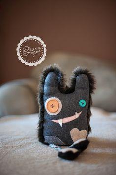 Monster stuffed animal, plush monster, pet monster, handmade stuffed animal