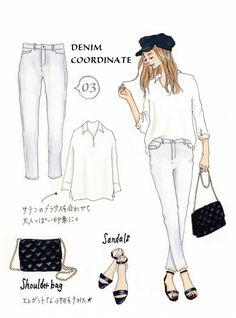 Instagramで今話題のファッションイラスト。大人気のイラストレーターSaekoさんが「今着たいユニクロアイテム」を使ったコーディネートを提案する連載、第5弾!今回は、デニムを使ったコーディネートをご紹介します。シンプルながらも絶妙なアクセントでおしゃれに魅せるアイテムのSaekoさん流の着こなし術は、今すぐ真似したくなるものばかりです!「デニムが大好きでよくはくのですが、Tシャツを合わせるシ...