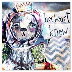 Her Heart Knew. #digitalcollage by Juliette Crane