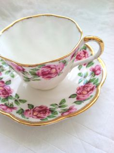 Vintage Fine Bone China Tea Cup and Saucer by by MariasFarmhouse, $45.00