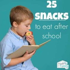 Easy, simple after school snacks are the best way to go for your kids! Here is a list of 25 after school snacks to get you started. Learning Activities, Kids Learning, Activities For Kids, Healthy Kids, Healthy Snacks, Healthy Recipes, Snack Recipes, Toddler Meals, Kids Meals