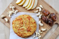 Vegan Baked Spiced Cashew Cheese- dairy-free and gluten-free. Nutritional yeast, mustard, tamari, salt, pepper, etc.