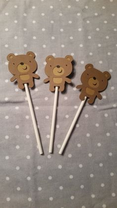 Check out this item in my Etsy shop https://www.etsy.com/listing/219388609/12-bear-cupcake-toppers