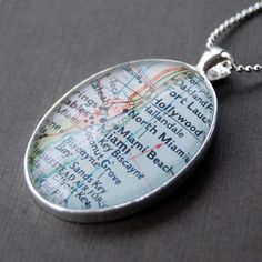 Map Pendant - Love this idea.  Now I just need to figure out how to make it myself.
