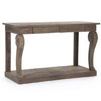 French Country Wood Console Table