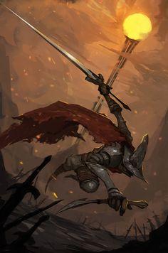 Dark souls 3 Undead Legion fan art, Chi Duong on ArtStation at https://www.artstation.com/artwork/aaBE8
