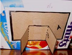 how to make a cardboard photo frame for kids