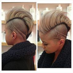 fluff top undercut with design hairtattoo
