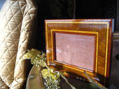 Beautiful Inlaid Gold Brown Wood Photo by NelliesTreasureTrove, $55.00