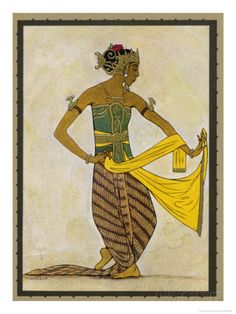 Javanese Dancer in a Sculpturesque Pose Giclee Print by Tyra Kleen at AllPosters.com