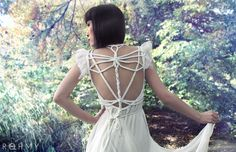 Dragonfly Wedding Dress by ROHMY Couture