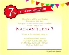 Newly Birthday 7 Year Old Boy And Invitation Wording For Party Wordings Messages 53 Present