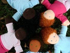 Waldorf Doll Complete Tutorial - from baby to kid stage at Living Crafts magazine blog