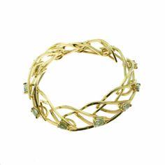 Gina Pankowski. Cascade link bracelet in  18k yellow gold with Montana sapphires