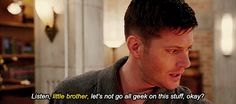 Best Winchester Brotherly Bonding Scenes Those instances when Dean refer to Sam as his little brother. No matter how big or old Sam gets, he. Under My Skin, Season 8, 20 Years Old, Dean Winchester, Jensen Ackles, Vulnerability, A Good Man, Supernatural, Bond