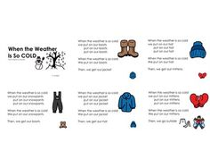 Boardmaker Online Winter song book: When the weather is so cold