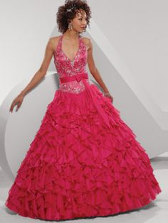 Princess Fascinating Halter Corset Fashion Ruched Applique Ball Gown