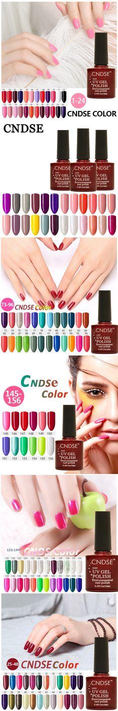 CNDSE 156 Color Series Healthy Nail Art Material Specialty Nail Gel Polish Semipermanent Pure Color UV Gel Nail Polish Permanent