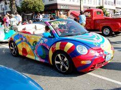DeviantArt: More Artists Like Hippy paint VW Beetle reborn by Partywave Hippie Style, Hippie Car, Hippie Chick, Hippie Painting, Car Painting, My Dream Car, Dream Cars, Pintura Hippie, Auto Volkswagen