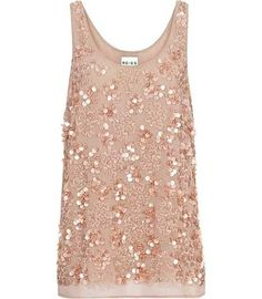 Reiss Kelly Sequined Top