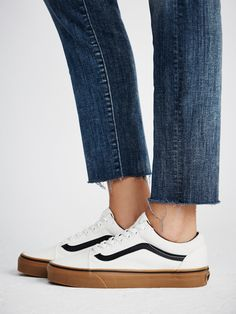 UA Old Skool Gum Sneaker | In classic Vans fashion, these skate-ready kicks were the first to bare the iconic side stripe. This timeless design features a modern update with gum-colored signature rubber waffle outsoles.  * Canvas uppers with a contrast stripe   * Padded footbed for extra comfort and support   * Two tone design.