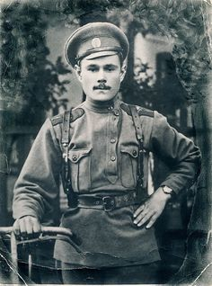 "Imperial Russian Army. Excellent photograph of asymmetric, buttoned ""peasant…"