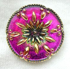 Beautiful Czech glass button.