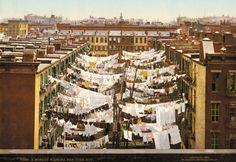 "Mulberry Street, Little Italy, New York,1900 (Fotoband ""American Odyssey"": Als Amerika Farbe bekam)"