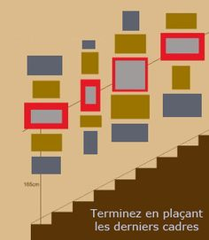 cadres dans l'escalier
