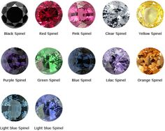 Spinel LILAC ... Spinel, Yellow Spinel, Purple Spinel, Green Spinel, Blue Spinel, Lilac