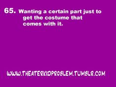 or having the COMPLETELY Opposite problem #theatre #acting