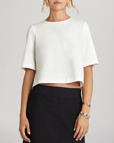 fddc6027b8ec1 BCBGeneration - White Boxy Crop Top - Lyst