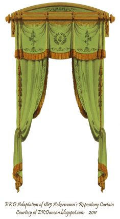 1815 French Curtain - Green by EveyD.deviantart.com