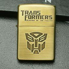 Etching Brass Transformers Zippo Lighter