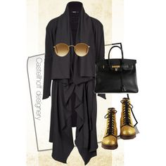 A fashion look from March 2015 featuring gold booties, Hermès and gold round glasses. Browse and shop related looks. Shoe Bag, Bags, Stuff To Buy, Clothes, Shopping, Shoes, Collection, Design, Women