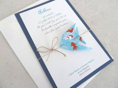 Faire part de naissance baptême carte de par papierelief sur Etsy