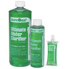 Ultimate Water Clarifier is safe for the *environment* because it is all-natural. It's effective formula removes excess metals, eliminates oils, & makes your pool water sparkle!